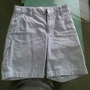 Boys white and blue casual shorts